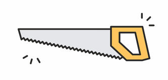 Icona della sega Immagini Stock