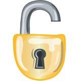 Icona della serratura aperta Immagine Stock