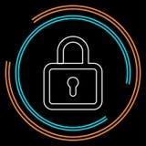 Icona della serratura - lucchetto di vettore - segno di sicurezza illustrazione vettoriale