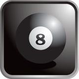 Icona della sfera di biliardo Immagine Stock