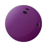 Icona della sfera di bowling Immagini Stock