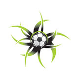 Icona della sfera di calcio illustrazione di stock