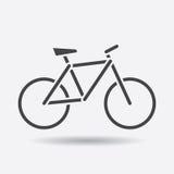 Icona della siluetta della bici su fondo bianco Illustr di vettore della bicicletta Immagine Stock Libera da Diritti