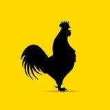 Icona della siluetta di vettore del gallo Immagine Stock