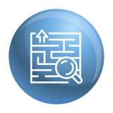 Icona della soluzione del ritrovamento, stile del profilo illustrazione di stock