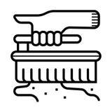 Icona della spazzola di pulizia royalty illustrazione gratis