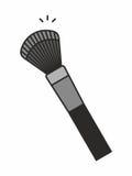 Icona della spazzola di trucco Immagine Stock