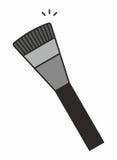 Icona della spazzola di trucco Fotografie Stock