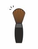Icona della spazzola di trucco Fotografia Stock Libera da Diritti