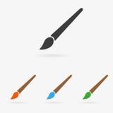 Icona della spazzola di vettore Fotografie Stock Libere da Diritti