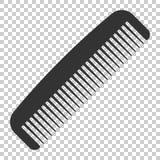 Icona della spazzola per capelli nello stile piano Illustratio accessorio di vettore del pettine royalty illustrazione gratis