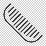 Icona della spazzola per capelli nello stile piano Illustratio accessorio di vettore del pettine illustrazione di stock