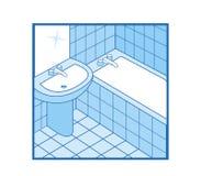 Icona della stanza da bagno Fotografie Stock