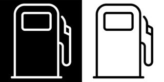 Icona della stazione di servizio illustrazione di stock