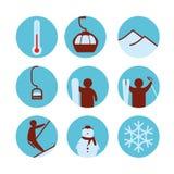 Icona della stazione sciistica royalty illustrazione gratis
