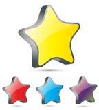 icona della stella 3d Fotografia Stock