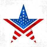 Icona della stella dell'America Fotografia Stock