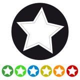 Icona della stella di natale - illustrazione variopinta di vettore - isolata su bianco Fotografia Stock Libera da Diritti
