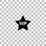 Icona della stella di VIP pianamente illustrazione vettoriale