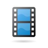 Icona della striscia della pellicola di film Fotografia Stock Libera da Diritti