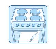 Icona della stufa di cucina Immagine Stock