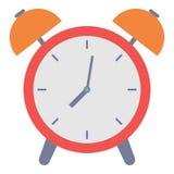 Icona della sveglia, stile piano Immagine Stock