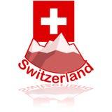Icona della Svizzera illustrazione di stock