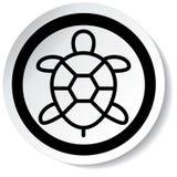 Icona della tartaruga Immagini Stock