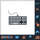 Icona della tastiera piana illustrazione vettoriale
