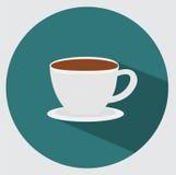 Icona della tazza di caffè Fotografie Stock Libere da Diritti