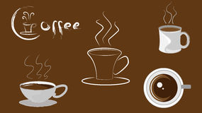 Icona della tazza di caffè Fotografia Stock Libera da Diritti