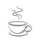 Icona della tazza di caffè Immagini Stock Libere da Diritti