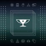 Icona della tazza di campioni dei premi con la stella Fotografia Stock