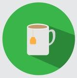 Icona della tazza di tè Fotografia Stock