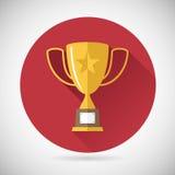 Icona della tazza di Victory Prize Award Symbol Trophy sopra Fotografia Stock