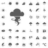 Icona della tempesta e della nuvola Icone di vettore del tempo messe Fotografie Stock