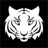 Icona della tigre Illustrazione per progettazione di logo, stampa di vettore della maglietta Fotografia Stock Libera da Diritti