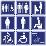 Icona della toilette Fotografie Stock