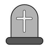 Icona della tomba trasversale royalty illustrazione gratis