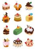 Icona della torta del fumetto Fotografia Stock