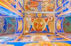 Icona della trinità santa nella cattedrale di natività di Suzdal' Immagine Stock Libera da Diritti