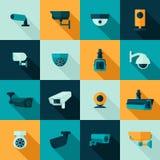 Icona della videocamera di sicurezza Immagine Stock Libera da Diritti