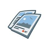 Icona delle alette di filatoio nello stile del fumetto Fotografia Stock
