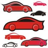 Icona delle automobili sportive Fotografie Stock