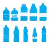 Icona delle bottiglie della plastica messa su fondo bianco Fotografie Stock Libere da Diritti
