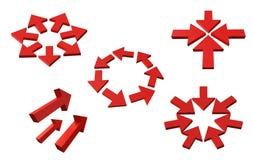 Icona delle frecce Fotografia Stock Libera da Diritti