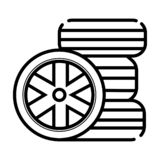 Icona delle gomme del nero di vettore royalty illustrazione gratis