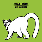 Icona delle lemure Illustrazione animale piana illustrazione vettoriale