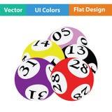 Icona delle palle del lotto Fotografia Stock Libera da Diritti