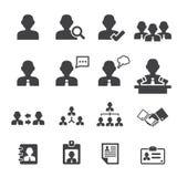 Icona delle persone e degli utenti di affari Fotografie Stock Libere da Diritti